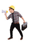 Construction supervisor shouting Stock Images