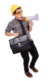 Construction supervisor shouting Royalty Free Stock Images