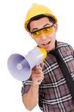 Construction supervisor shouting Stock Photos
