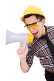 Construction supervisor shouting Royalty Free Stock Photos