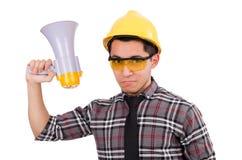 Construction supervisor shouting Stock Photo