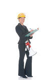 Construction supervisor woman Stock Images