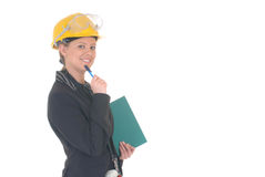 Construction supervisor woman Royalty Free Stock Photography