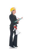 Construction supervisor woman Royalty Free Stock Images