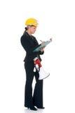 Construction supervisor woman Stock Image