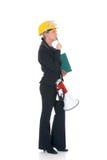 Construction supervisor woman Stock Photography