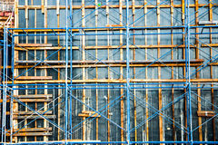 Construction supportante d'échafaudage Photos stock