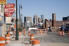 Construction sur l'avenue du Michigan Image libre de droits