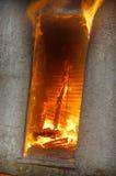 Construction sur l'incendie Images libres de droits