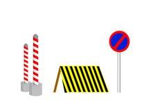 Construction sur la route Images libres de droits