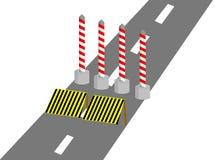 Construction sur la route Image stock