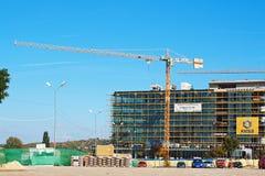 Construction sur un nouveau supermarché Photo libre de droits