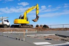 Construction sur un trottoir neuf Photo libre de droits