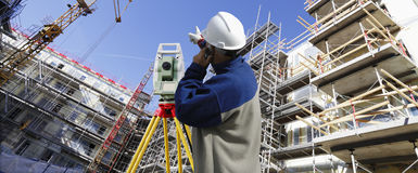 Construction and suveying industry Stock Image
