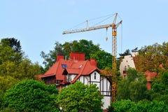 Construction. Svetlogorsk (Rauschen). Kaliningrad region, Russia Stock Photos