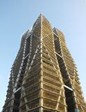 Construction of a Tall Building Stock Photo