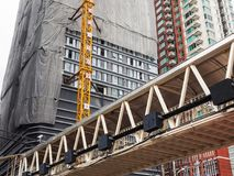 Construction tall buildings. In the city Stock Images