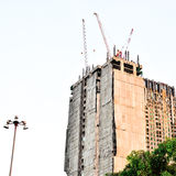 Bangkok, Thailand : The construction of tall build Royalty Free Stock Photography