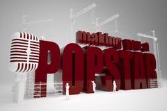 Construction te faisant un popstar Image libre de droits