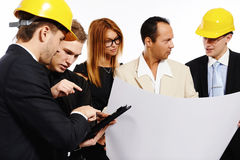 Construction team at business meeting Stock Image