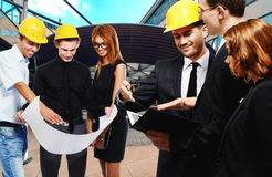 Construction team at business meeting Royalty Free Stock Photography