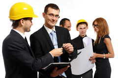 Construction team at business meeting Stock Images