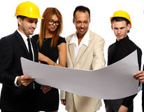 Construction team at business meeting Royalty Free Stock Image