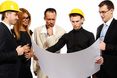 Construction team at business meeting Royalty Free Stock Photos