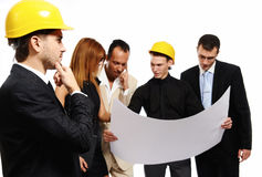Construction team at business meeting Stock Photo