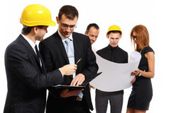 Construction team at business meeting. Royalty Free Stock Photography