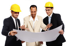 Construction team Stock Image