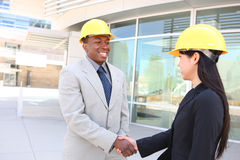 Construction Team Handshake Royalty Free Stock Photo