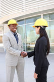 Construction Team Handshake Stock Photo