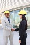 Construction Team Handshake Stock Photo