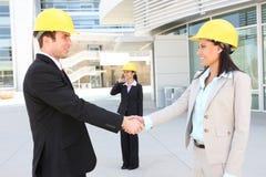 Construction Team Hanshake Royalty Free Stock Images