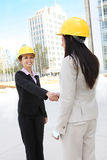 Construction Team Hanshake Stock Images