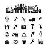 Construction team  icon Stock Image