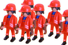 Construction team toys Stock Photos