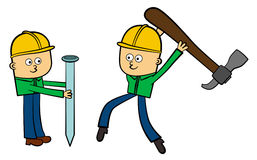 Construction teamwork Royalty Free Stock Photos