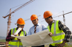 Construction teamwork Royalty Free Stock Photography