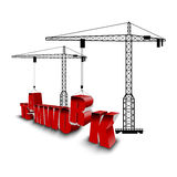 Construction of teamwork background Stock Image