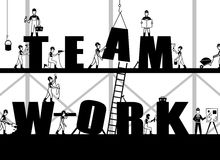 Construction Teamwork Poster Royalty Free Stock Images