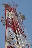 Construction of a telecommunications tower Stock Photos