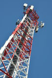 Construction of a telecommunications tower Royalty Free Stock Photo