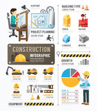 Construction Template Design Infographic . concept vector illustration stock illustration