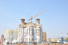 Construction of a temple Stock Photography