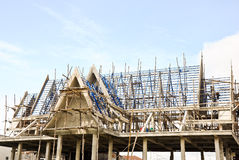 Construction of Thai church Royalty Free Stock Photo