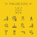 Construction thin line icon set Royalty Free Stock Image