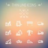 Construction thin line icon set Stock Photos