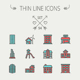 Construction thin line icon set Royalty Free Stock Images